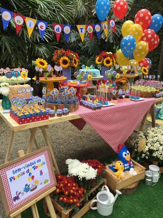 festa da Galinha Pintadinha piquenique