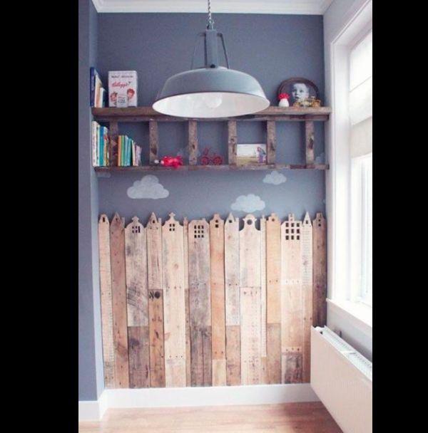 Artesanato em madeira na parede