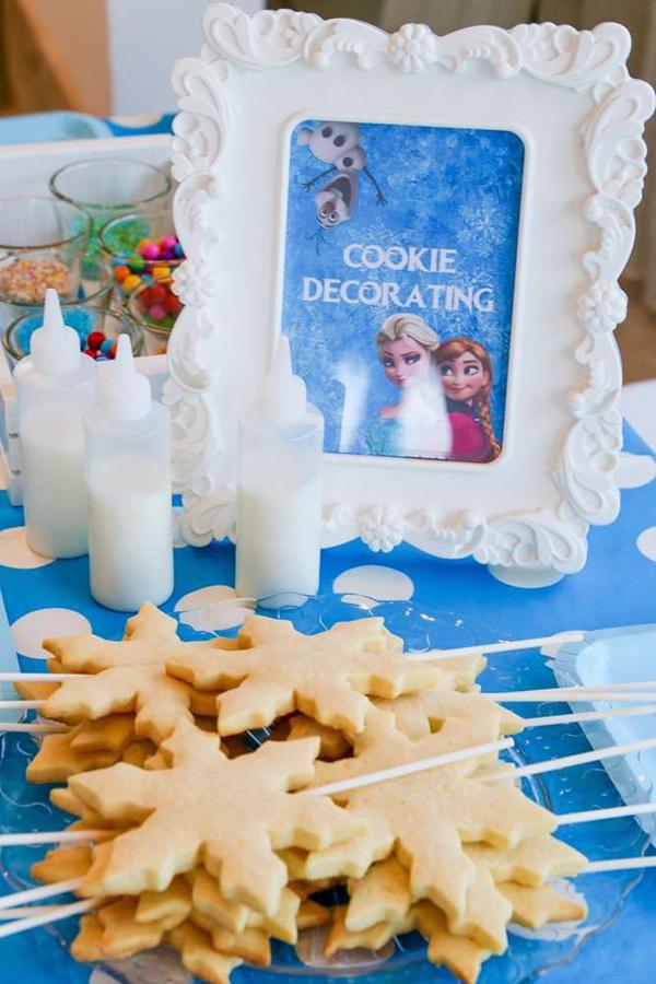 festa Frozen biscoito