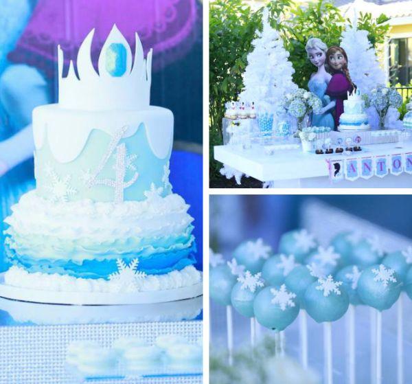 festa Frozen coroa