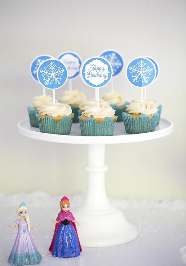 festa Frozen cupcake