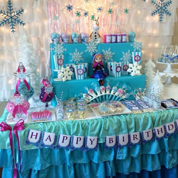 festa Frozen com babados
