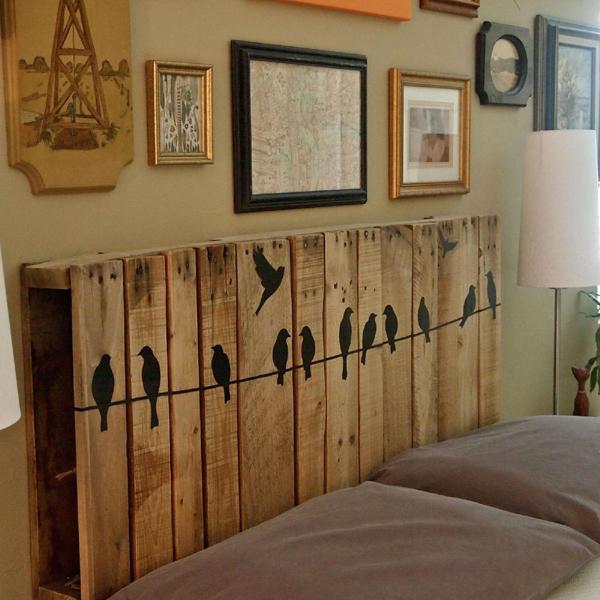 Artesanato em madeira cabeceira