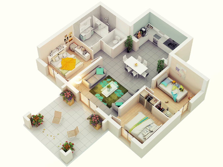 projeto de casa bonitinha