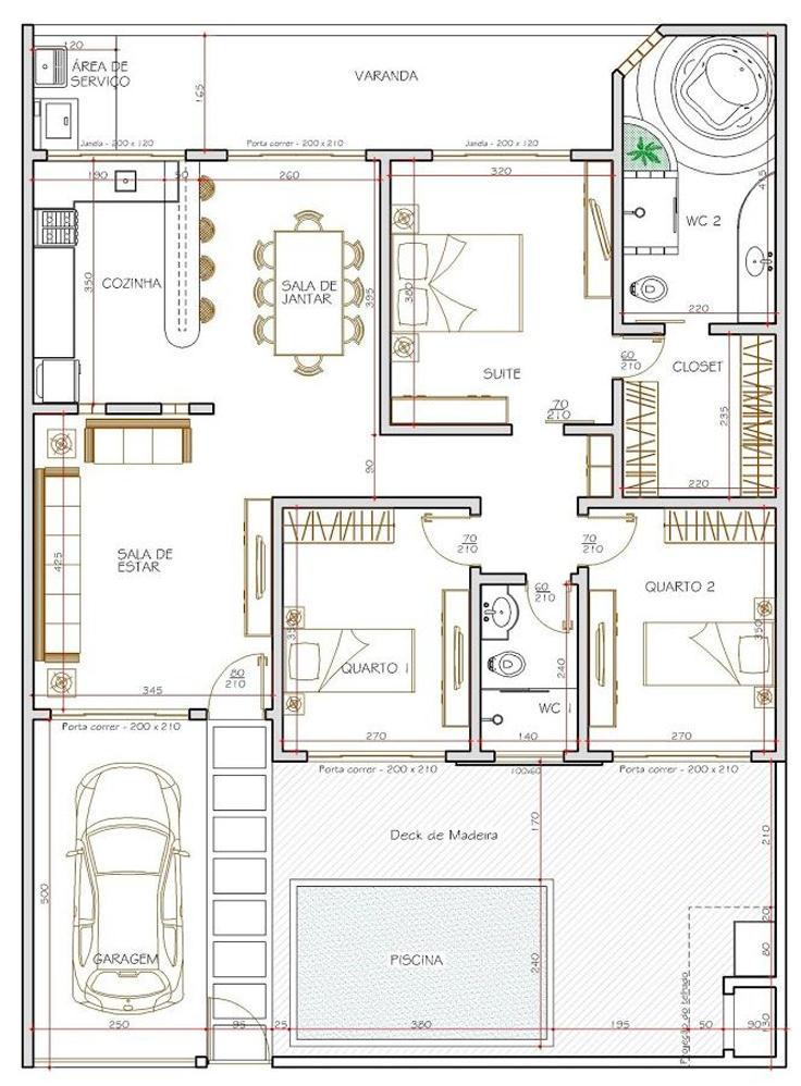 projeto de casa moderno