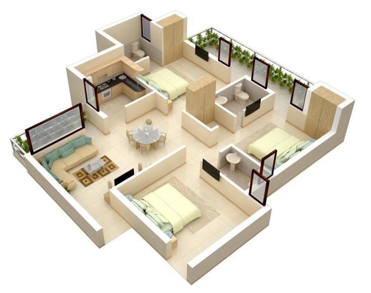 projeto de casa clara