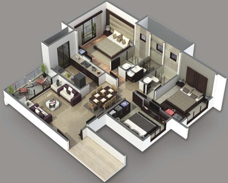 projeto de casa sobria