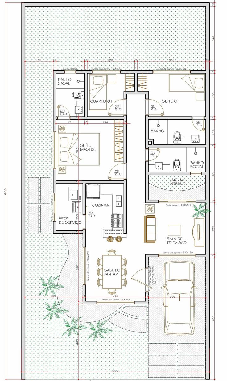 projeto de casa quintal