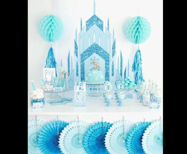 festa Frozen castelo