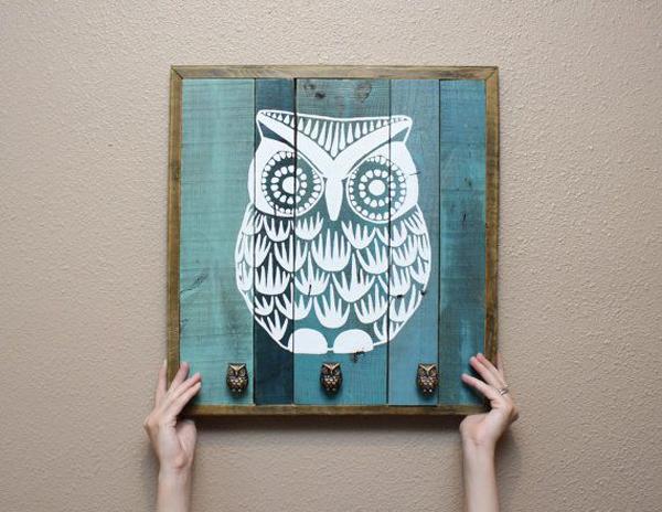 Artesanato em madeira coruja