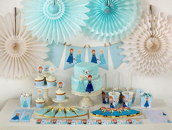 festa Frozen romantica