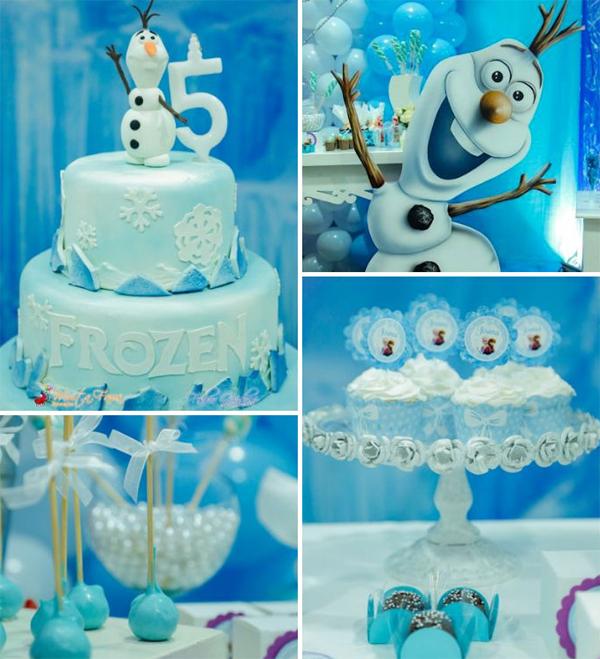 festa Frozen com olaf