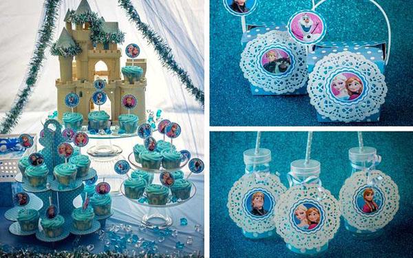 festa Frozen etiqueta