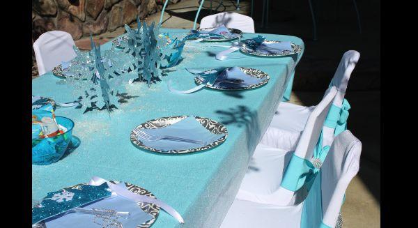 festa Frozen mesa