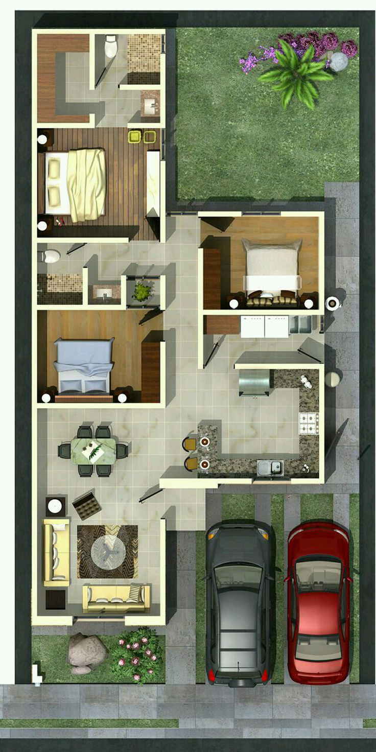 projeto de casa area de luz