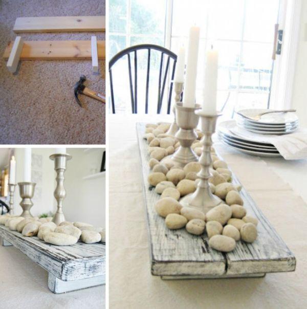 Artesanato em madeira suporte de mesa
