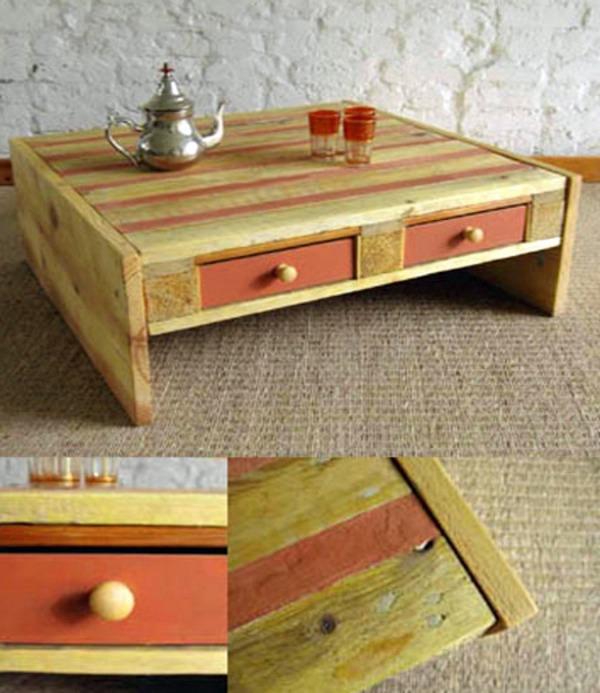 Artesanato em madeira gaveta