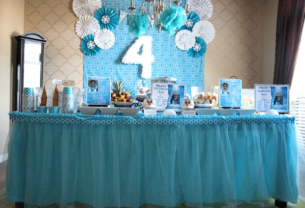festa Frozen tecido