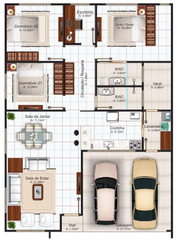 projeto de casa comprida