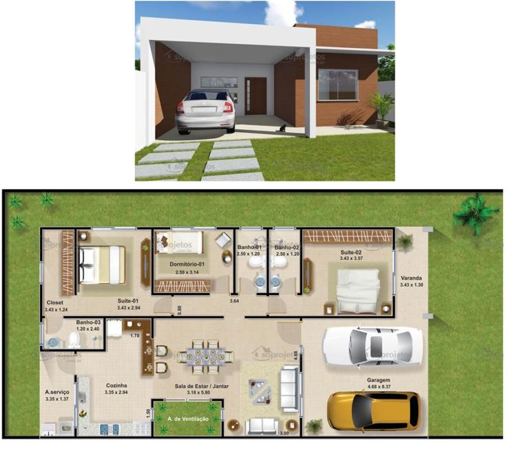 projeto de casa bonita