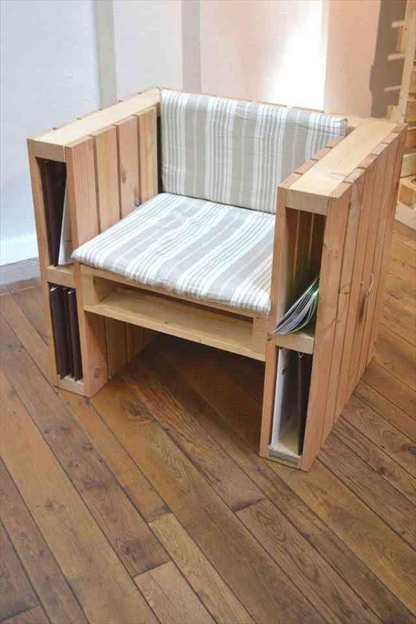 Artesanato em madeira poltrona