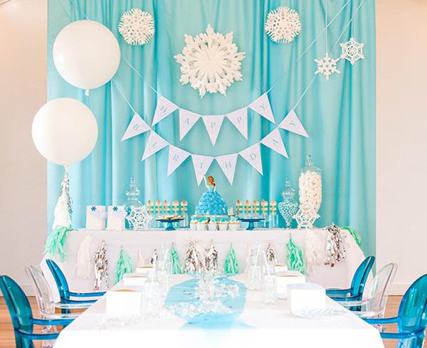 festa Frozen cortina
