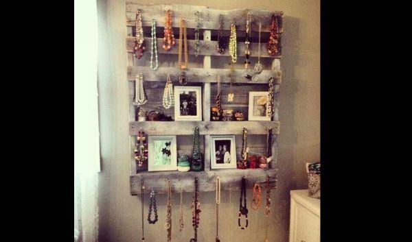 Artesanato em madeira porta bijoux
