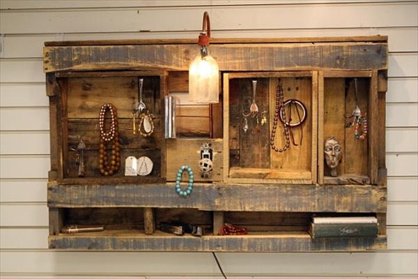 Artesanato em madeira porta joia