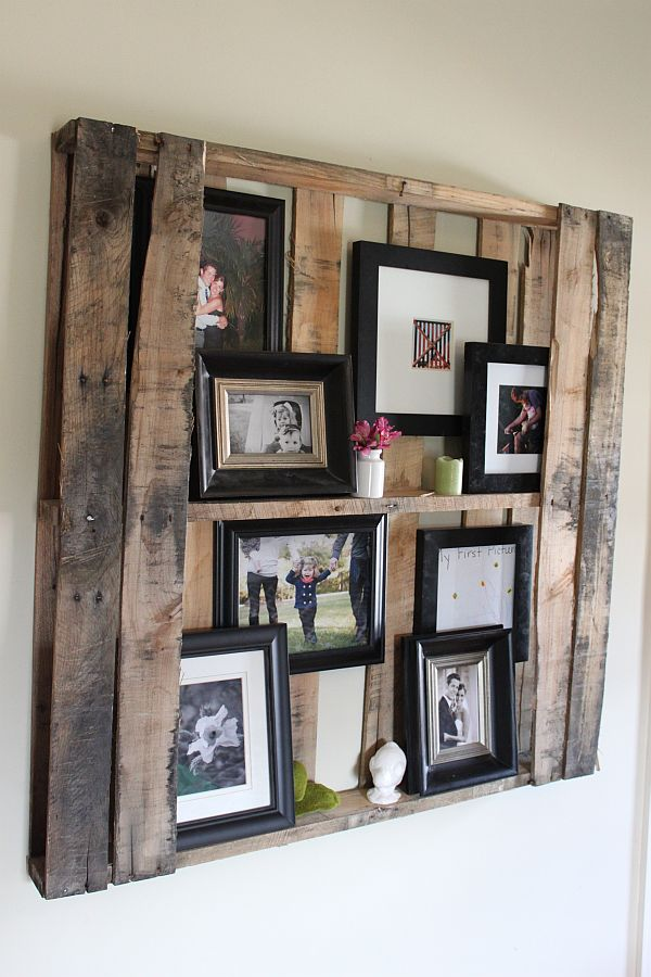 Artesanato em madeira porta fotos