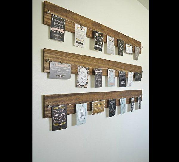 Artesanato em madeira porta recado