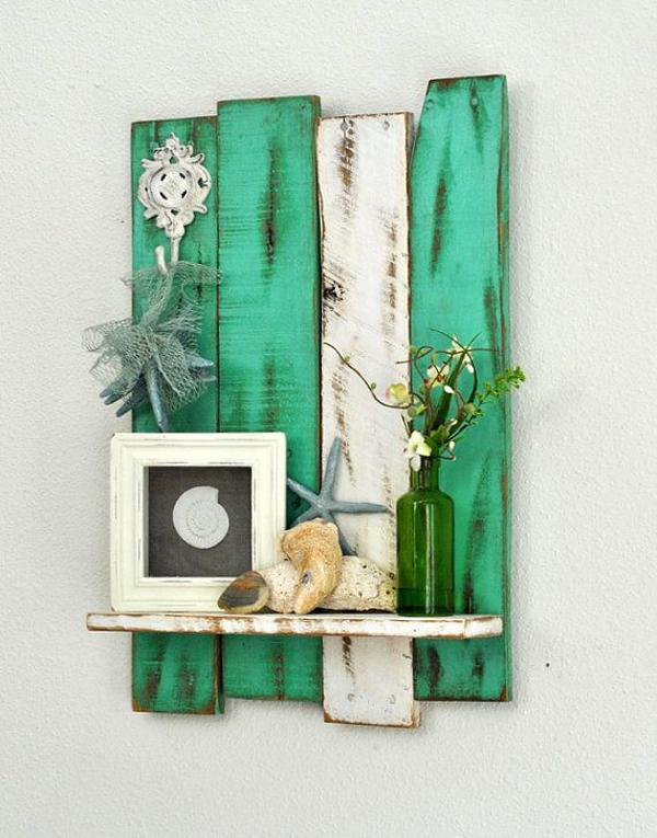Artesanato em madeira verde