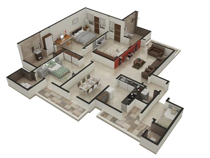 projeto de casa com divisorias