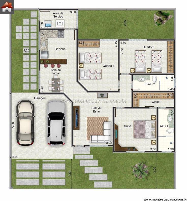projeto de casa com escada