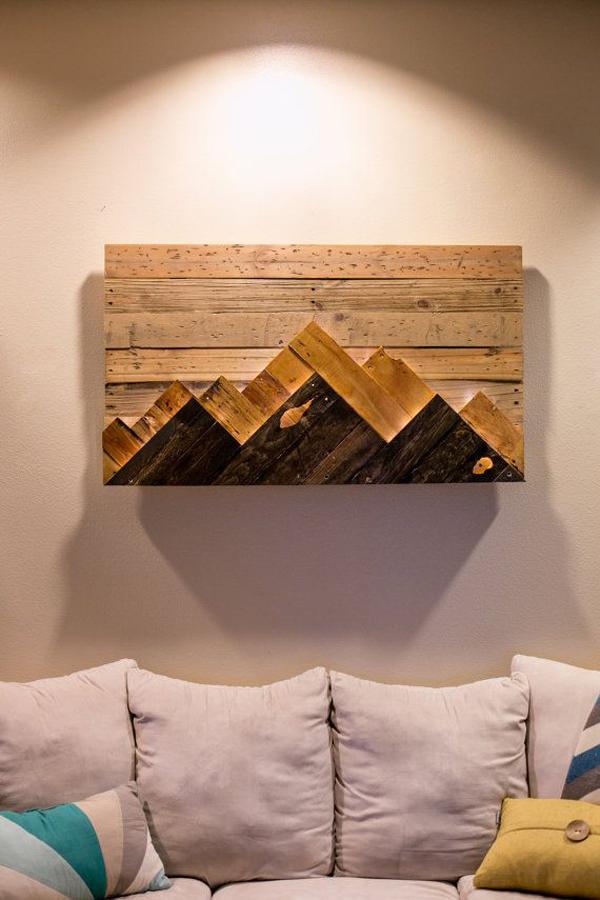 Artesanato em madeira objeto decorativo
