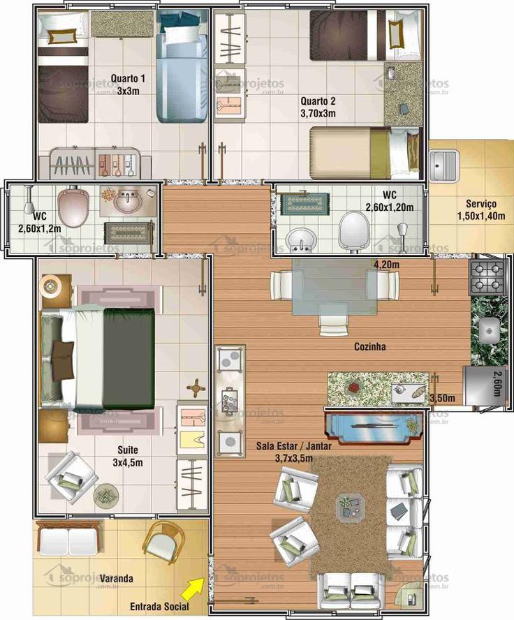 projeto de casa sala de jantar