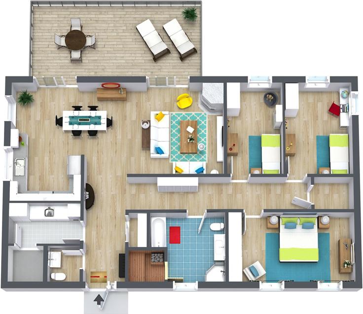 projeto de casa sem garagem