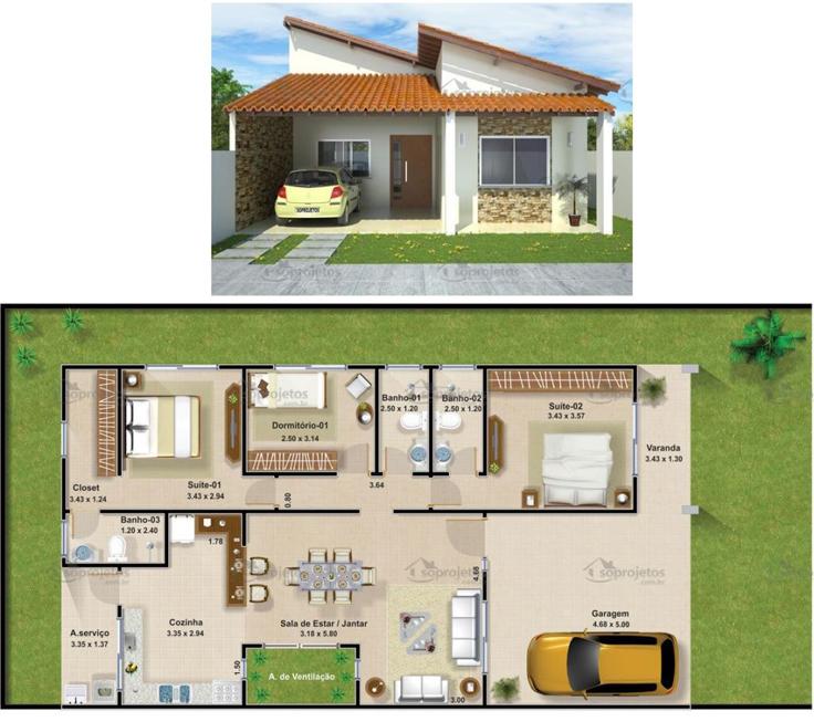 projeto de casa linda