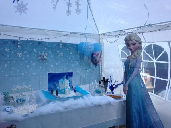 festa Frozen tenda