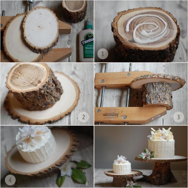 Artesanato em madeira bandeja