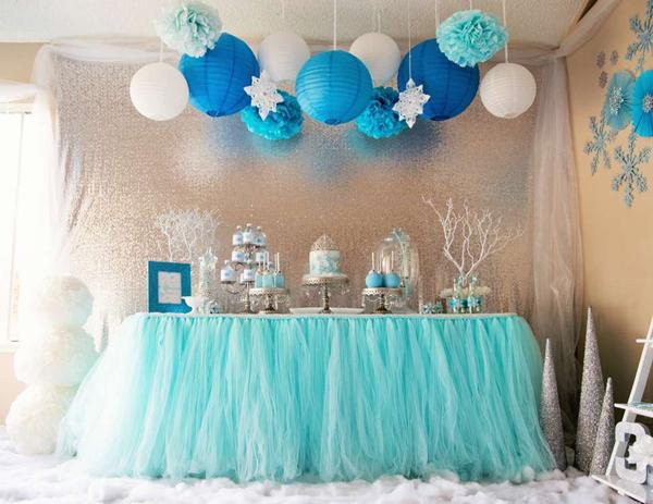 festa Frozen lanterna papel