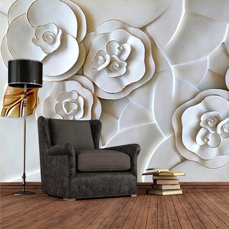parede decorada com papel 3d
