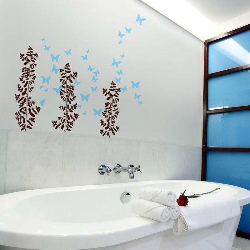 parede decorada banheiro