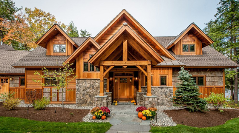 casa com madeira design