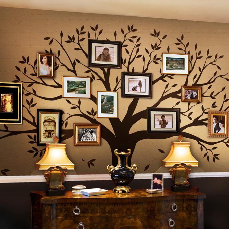 parede decorada com arvore genealogica