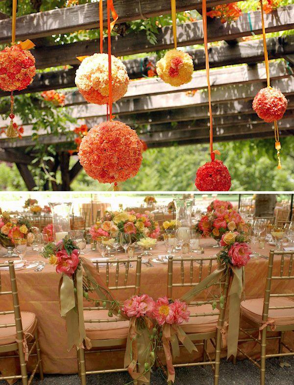 decor casamento bola de flor