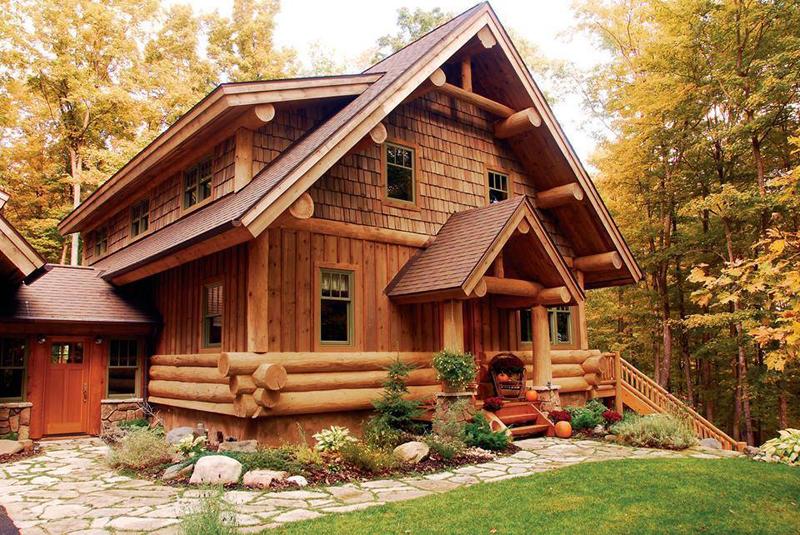 casa com madeira chale