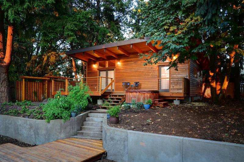 casa com madeira linda