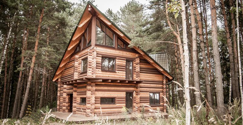 casa com madeira moderna