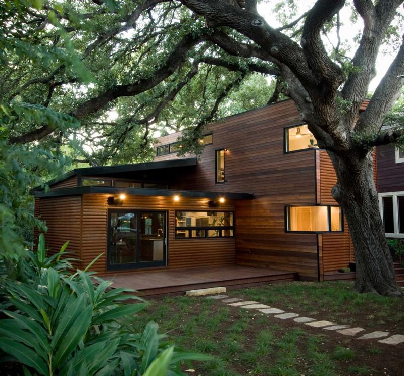 casa com madeira arvore