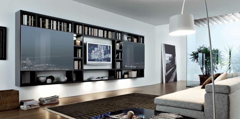 sala de tv estante
